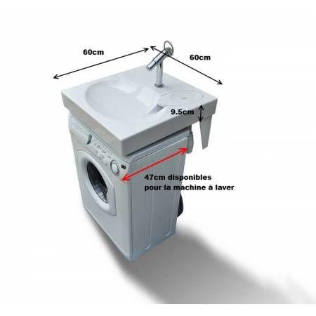 Space-saving washbasin fits above washing machine