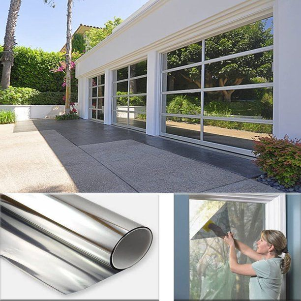 23 5 X 78 7 Mirror Window Film Daytime Privacy Reflective Black Silver Out Window Film Privacy Guard Blocker Uv Keep Warm Or Energy Save Home Tint 6 5 L X 23 In 2020 Mirror