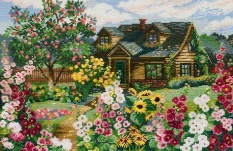 Вышивка Цветущий сад (Riolis)