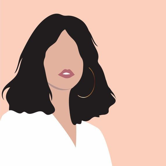 Self Portrait Illustration Vector Faceless Minimalist Or Detailed Individual Digital Portrai In 2020 Portrait Cartoon Portrait Illustration Graphic Design Illustration