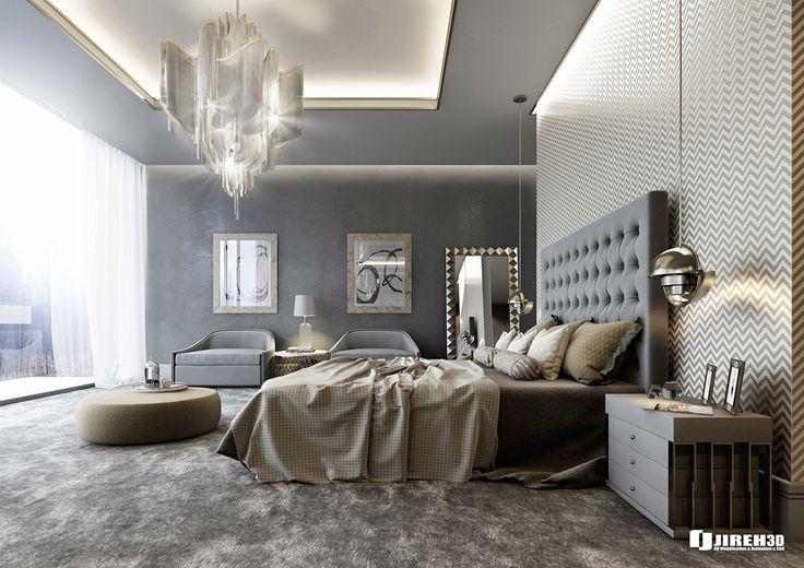 VRayforC4D Scene files - Modern Classic Bedroom Scene on Behance