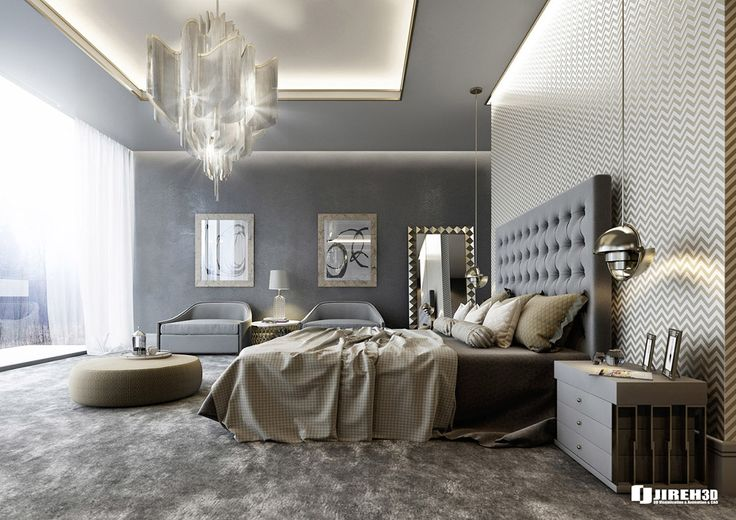 VRayforC4D Scene files - Modern Classic Bedroom Scene on Behance