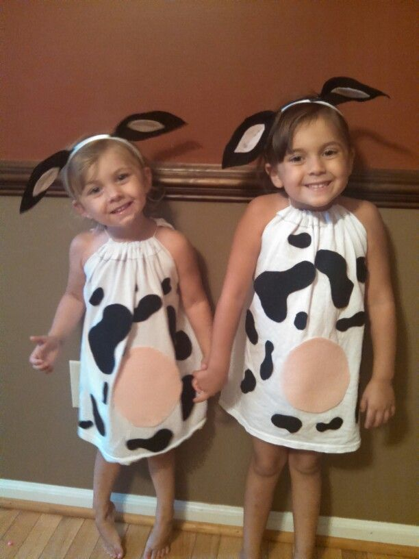 Chic a fil a dress like a cow day homemade costumes. Felt hot glue old white tee and done!