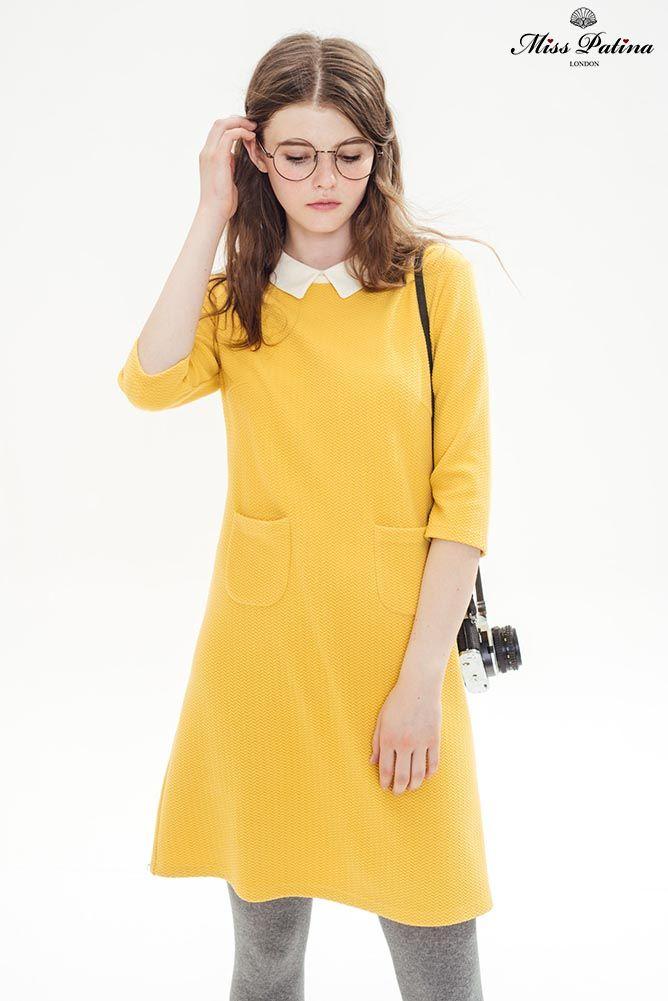 Wallflower Dress (Yellow) - Miss Patina - Vintage Inspired Fashion