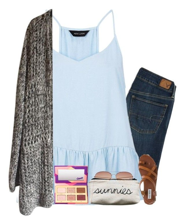"""""""having a great day today//maddy"""" by southern-prep-gals ❤ liked on Polyvore featuring American Eagle Outfitters, tarte, H&M and Steve Madden"""