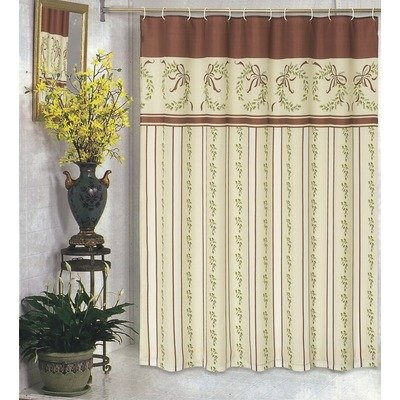 Victorian Christmas Fabric Holiday Shower Curtain