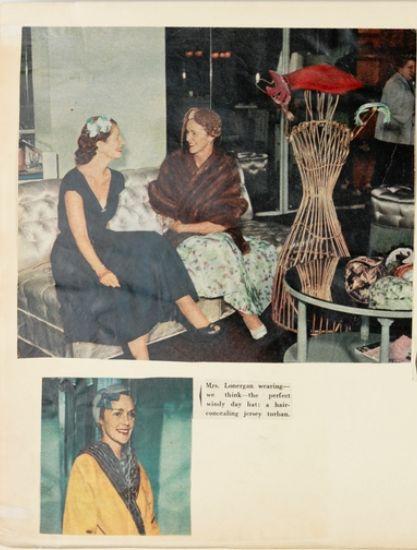 Henrietta Lamotte hat studio, Rowe St Sydney