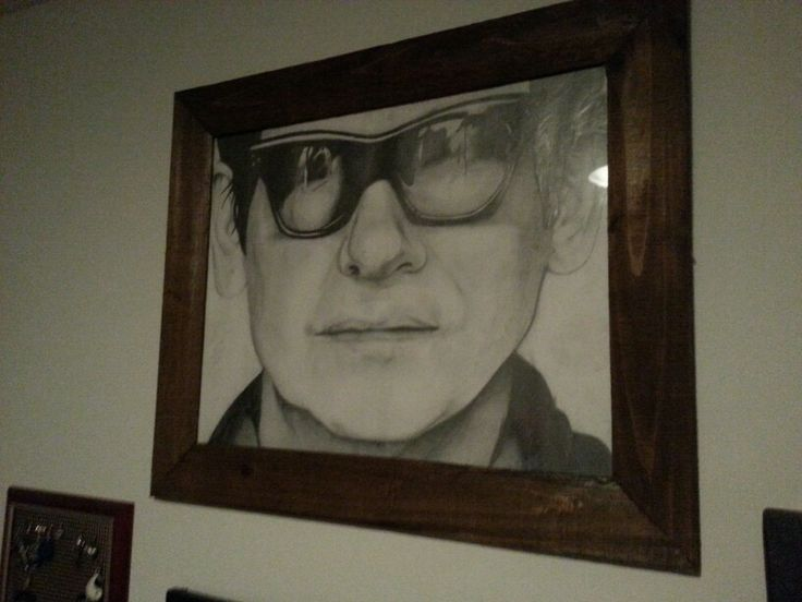 Roy orbison in pencil. My angel of music.