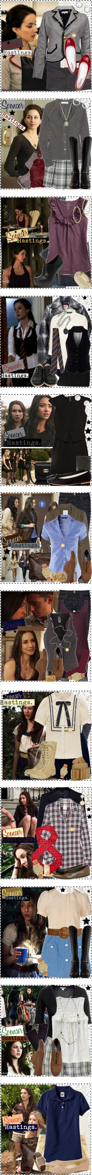 """Spencer Hastings [Pretty Little Liars]."" by silver-screen-style on Polyvore"