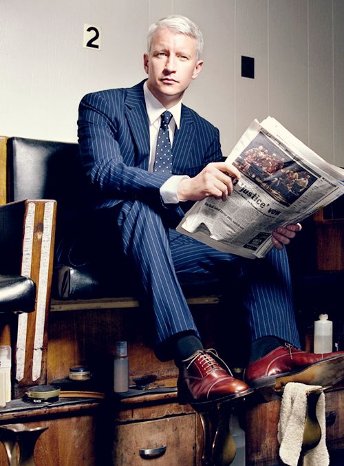 Anderson Cooper <-- not going to lie he's my old guy crush! (Sad he's gay though :()