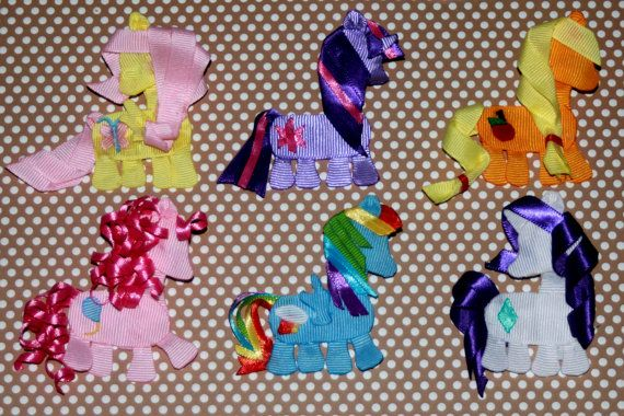 Little+Pony+hair+clips+by+KaylaBugsBoutique+on+Etsy,+$10.00