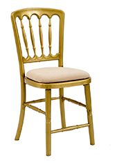 Gold Gilt Chair with Ivory Seat Pad offers Traditional design stackable eco-friendly resin chair, shown here with a Ivory seat pad but is also available in various coloured seat pads. http://www.eventhireonline.co.uk/seating/gold-gilt-ivory-pad