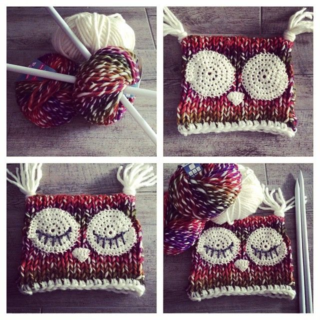 vane.handicraft's photo on Instagram knitted owl hat