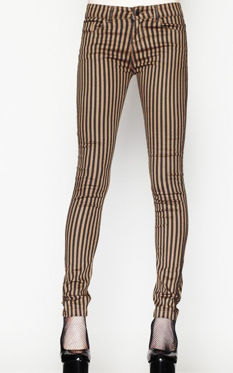 steampunk stripe leggings - Google Search