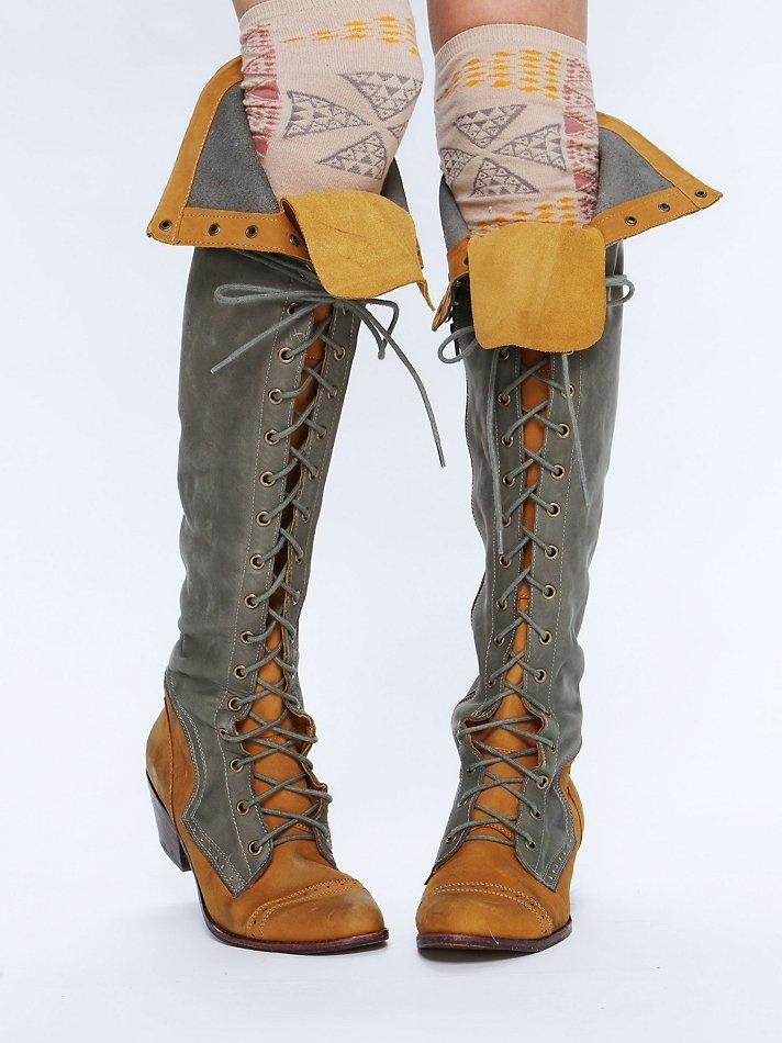 Tall Aztec Sock + Boots