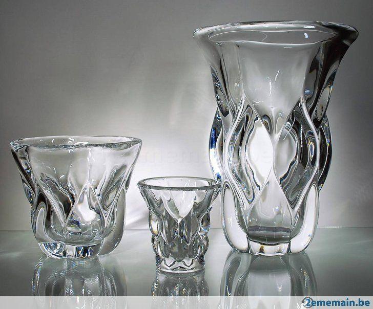 Unique Val St Lambert Lot de vases en cristal VSL A vendre