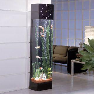 AQUARIUM SUPPLIES, ACCESSORIES AND EQUIPMENT: Decorating A Vertical Fish Tank