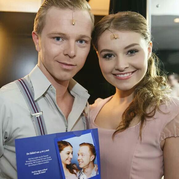 Sound of Music! I love these two! Martijn Vogel as Rolf and Vajèn van den Bosch as Liesl!