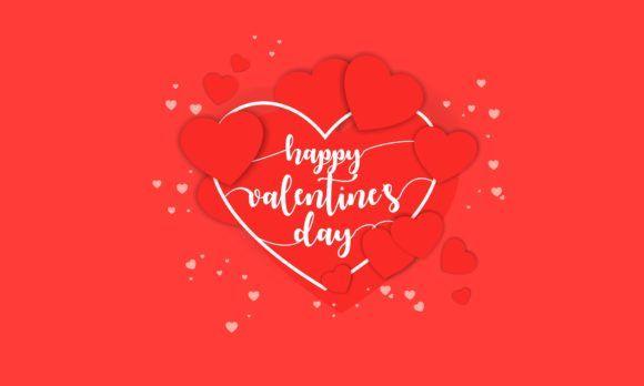 Download Free Happy Valentine S Day Background Vector Graphic By Deemka Studio Creative Fabrica In 2020 Happy Valentines Day Valentines Day Background Happy Valentine PSD Mockup Template