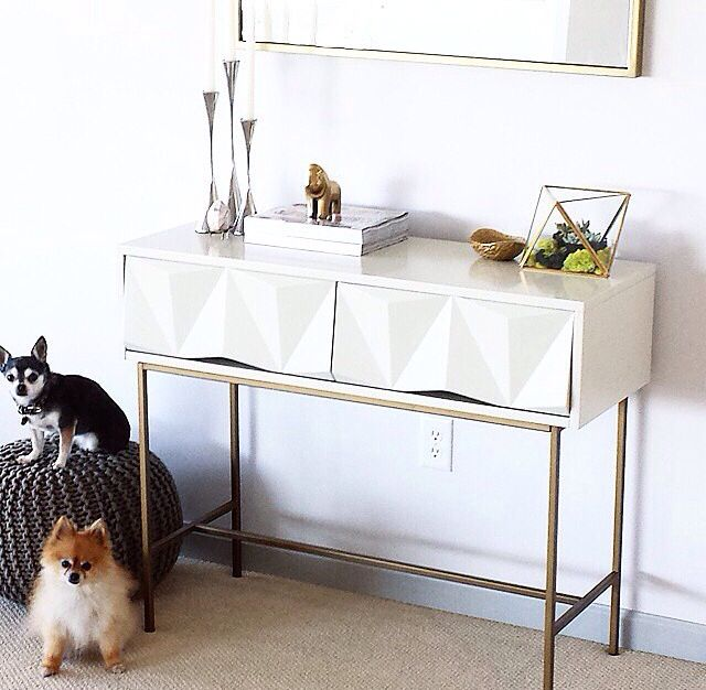 West Elm Geo Console Table I Am In Love With Images Home