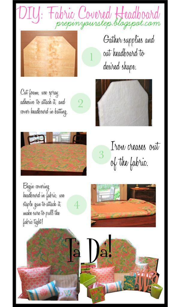 Dorm It Yourself: Fabric Covered Headboard @Alyssa Singleton @Maria Stewart @Emily Briscoe