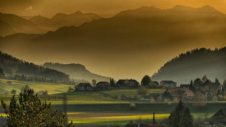 Por do sol na montanha