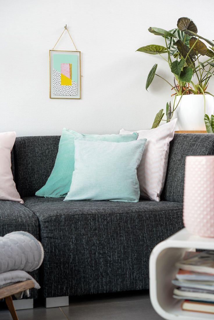 Lichte kleuren geven een fijne, rustige uitstraling aan je interieur. Dat is fijn thuiskomen. #HEMAwonen. #mintgroen