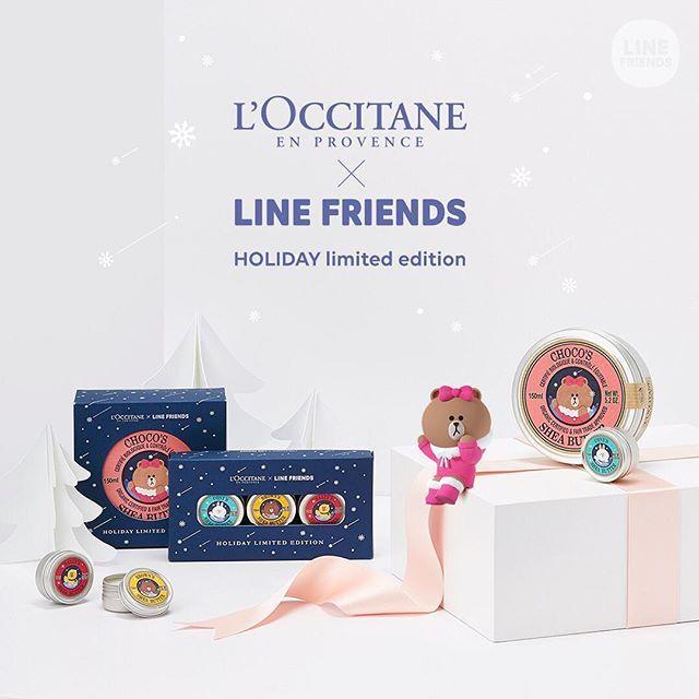 Loccitane x Line Friends Hand Cream | 45,000won | Image credit: https://www.instagram.com/linefriends/ | #ShopandBoxKorea #holidaycollection2016