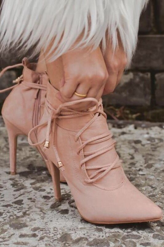 5d17663afa6 Lace-up Sexy Winter Ankle Boots Women High Heels Pointed Toe | Fall ...