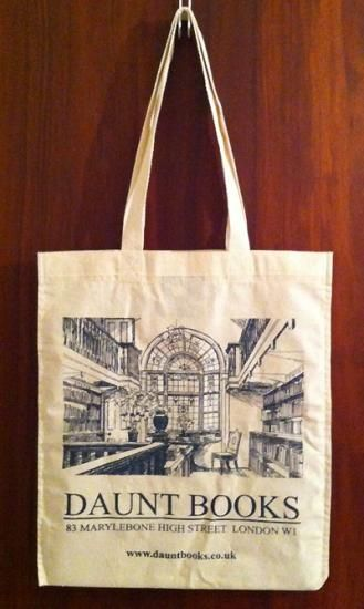 Several totes for Daunt have been issued and reissued. Can't find the original which was simply the logo on the front - much of Saturday sales came from these! (LW32-8)