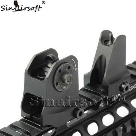 A1.5 Fixed Rear Sight & Front Sight One Piece Streamline Design Standard AR15 Apertures Iron Sights