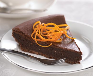 Dark Chocolate and Orange Mascarpone Tart with Tre Stelle® Mascarpone #mascarpone #dessert #cake #recipe