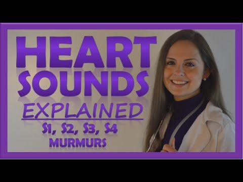 Heart sounds (S1, S2, S3, S4, murmurs) for nursing assessment examination. This video details the anatomy of the heart, heart sound auscultation points (site...