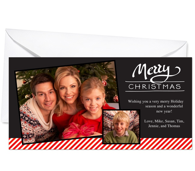 Photo Cards : Tidings Christmas Holiday Photo Card Template