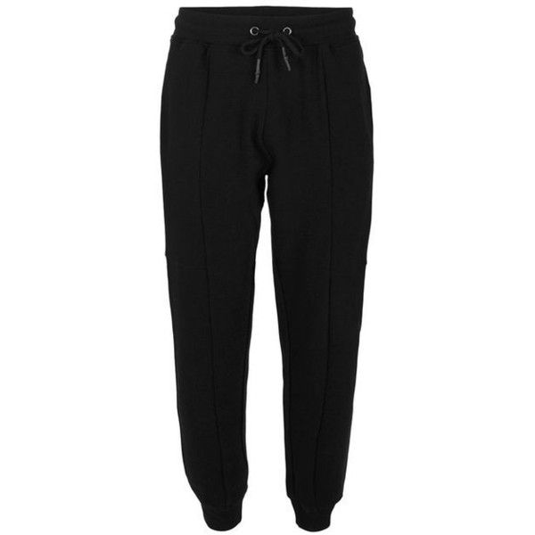 Black Textured Skinny Joggers (318530 PYG) ❤ liked on Polyvore featuring activewear and activewear pants