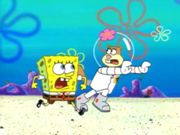 "I've seen this part, too; where Spongebob and Sandy were running from a Giant Monster Worm.  Spongebob: ""What's the plan, Sandy?"""