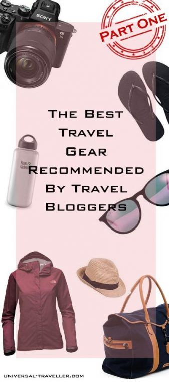 The Best Travel Gear Recommended By Travel Bloggers. Read here what to take on your next trip. The ultimate packing list for your next trip. Travel bloggers recommend the perfect travel gear for your vacation.