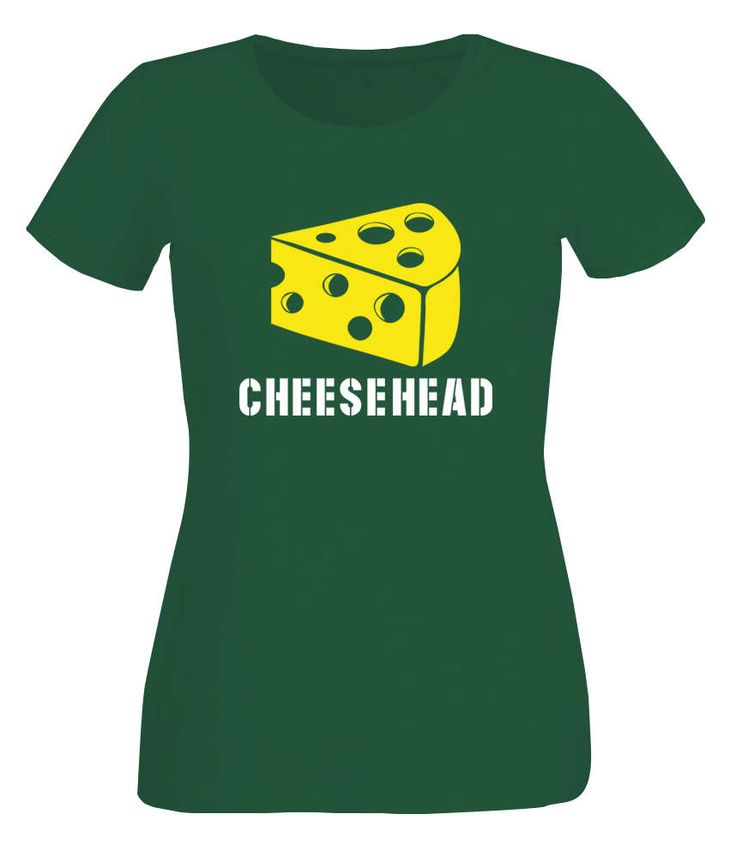 Lady's Green Packers inspired cheesehead bottle green T-shirt by iganiDesign on Etsy