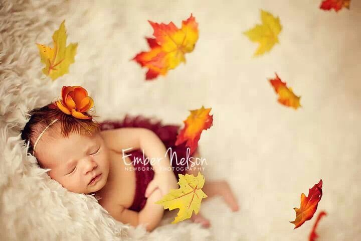 Fall ♥ Oh do I wish our beautiful baby was born in the fall! This would be perfect.