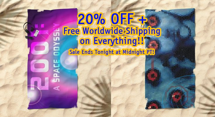 20% Off + Free Worldwide Shipping on Everything - Sale Ends Tonight at Midnight PT! Cinema -Movies Beach Towels.  #cinema #movies #cinemabeachtowels #moviesbeachtowels #beachtowels #sales #save #discount #freeworldwideshipping #summer #summer2017 #summergifts #giftsforher #giftsforhim #society6