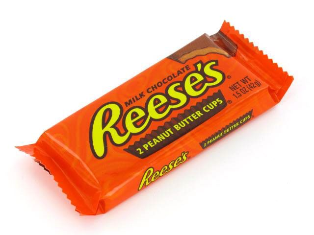 reeses peanut butter cups are corn free...but the reeses peices are not!!!