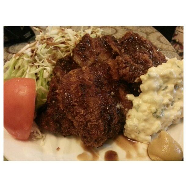 昨日の#晩ご飯 #とんかつ#魚 #フライ#フィリピン#ディナー#tonkatsu#friedfish for #dinner #philippines #food#yummy