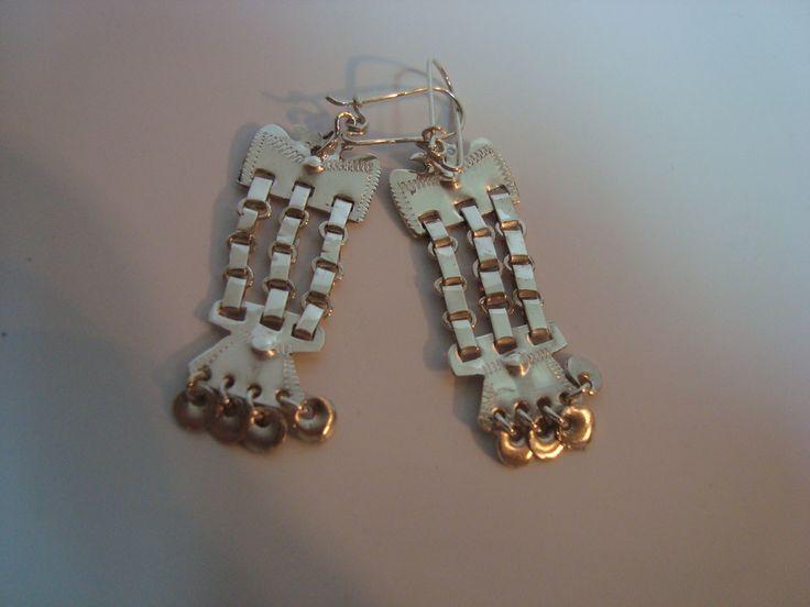 Aros (Chawai) de plata Trapelakucha  Valor: $15.800