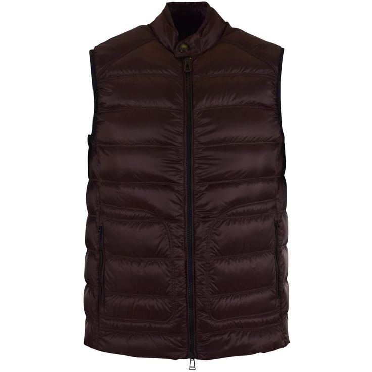 BELSTAFF Belstaff Dark Burgundy Lined Puffer Gilet - Jackets/Coats from Brother2Brother UK