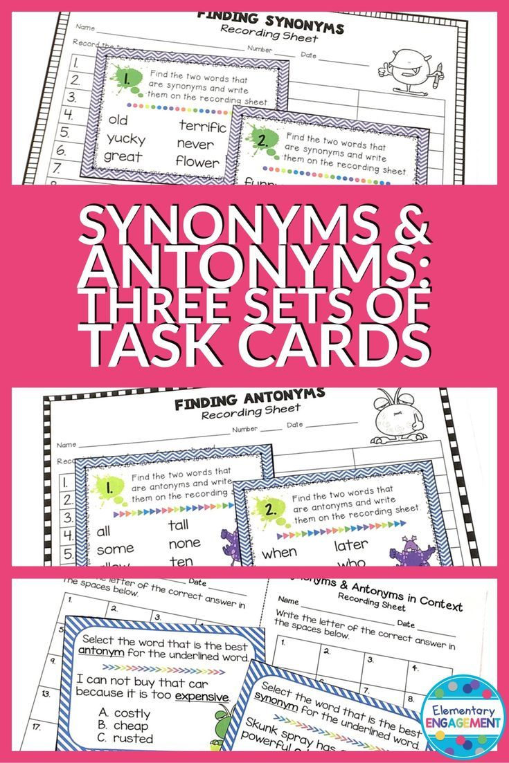24 best vocabulary games for any unit images on pinterest synonym and antonym task cards 3 sets biocorpaavc