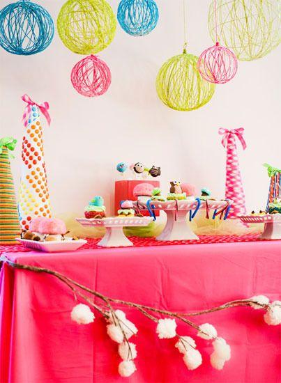 Adornos caseros para fiestas de cumpleaños