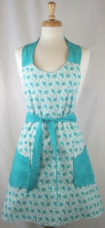 Hey, I found this really awesome Etsy listing at http://www.etsy.com/listing/120551778/ladies-turquoise-apron