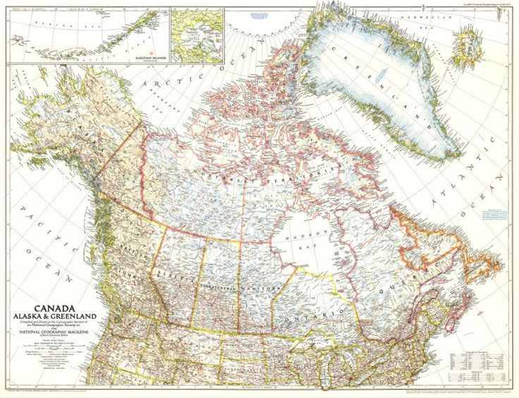 Canada Alaska And Greenland Map By National Geographic - National geographic us map