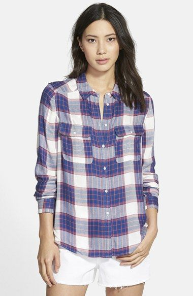 Paige Denim 'Trudy' Button Front Plaid Shirt available at #Nordstrom