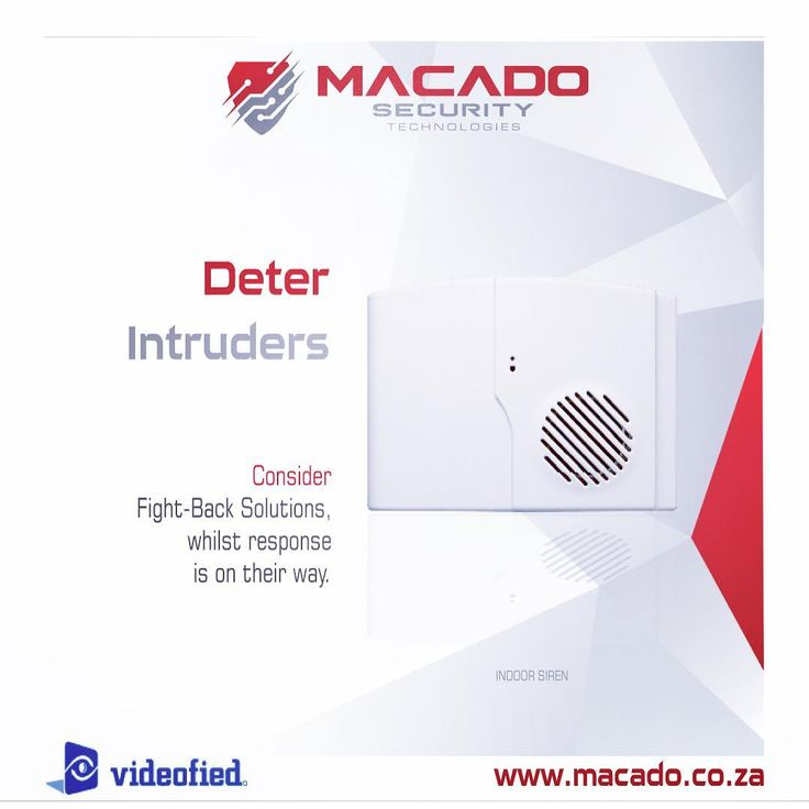 New design look for the indoor siren by #videofied. Macado is the leading dealer in South Africa - T: +27 (0)87 808 8888 or email: info@macado.co.za  www.macado.co.za to find out more.
